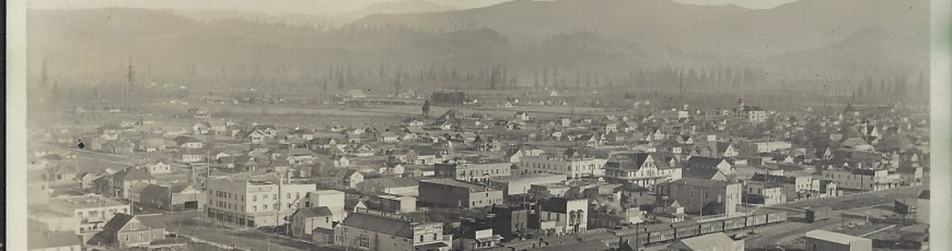 Historical photo of Sumas taken from Moe's hill.